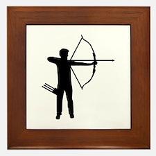 Archery archer Framed Tile