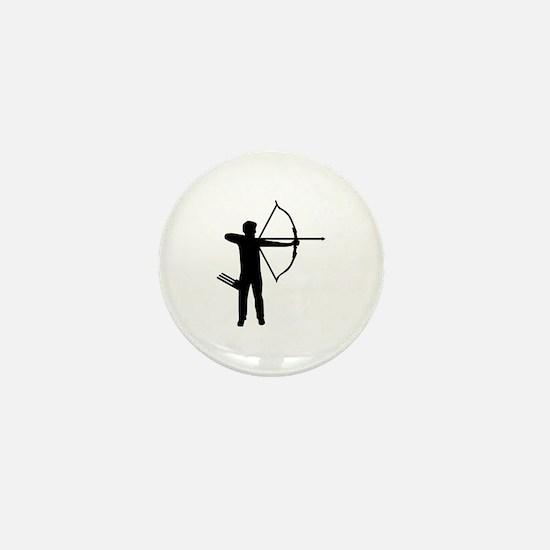Archery archer Mini Button