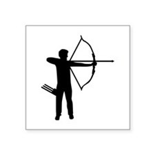 "Archery archer Square Sticker 3"" x 3"""