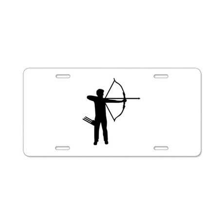 Archery archer Aluminum License Plate