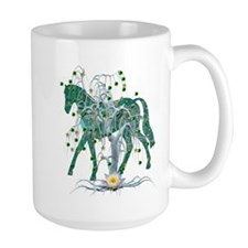 Horse In Winter Forest Mug