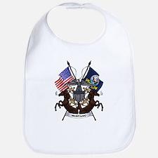 Navy Mustang Emblem Bib
