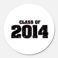 Class of 2014 Round Car Magnet