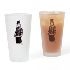 Navy LDO Mustang Black Coloring Drinking Glass