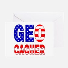 USA Geocacher Greeting Cards (Pk of 10)