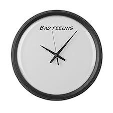 Funny Feeling it Large Wall Clock