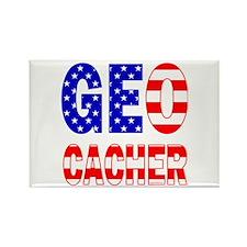 USA Geocacher Rectangle Magnet (100 pack)