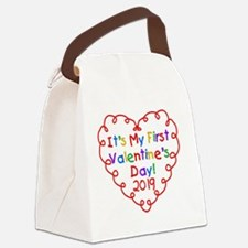 Heart 1st Valentine Day Canvas Lunch Bag