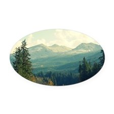 Wilderness is a Necessity Oval Car Magnet