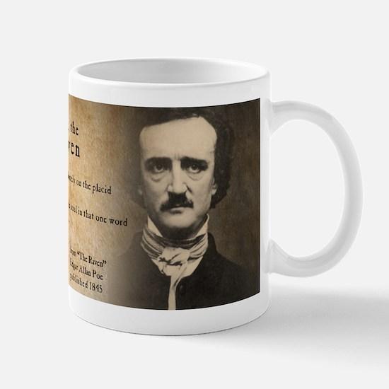 Edgar Allan Poe and Raven Mugs