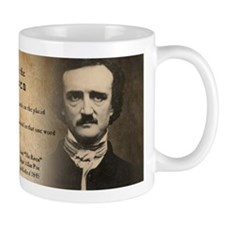 Edgar Allan Poe and Raven Small Mugs