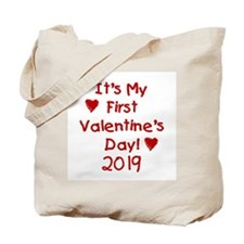 It's My First Valentine's Day Tote Bag