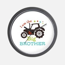 Big Brother Farmer Tractor Wall Clock