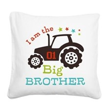 Big Brother Farmer Tractor Square Canvas Pillow