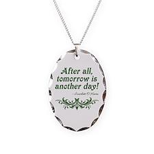Scarlett O'Hara Quote Tomorrow Necklace