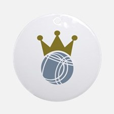 Boccia boule champion Ornament (Round)