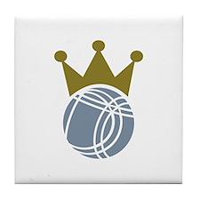 Boccia boule champion Tile Coaster