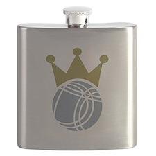 Boccia boule champion Flask