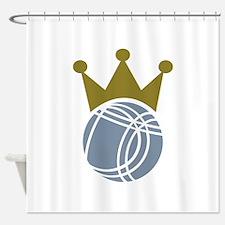 Boccia boule champion Shower Curtain