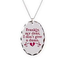 Classic Rhett Butler Quote Necklace