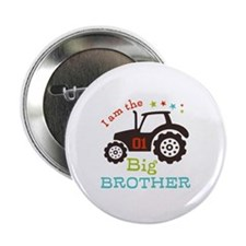 "Big Brother Farmer Tractor 2.25"" Button (100 pack)"