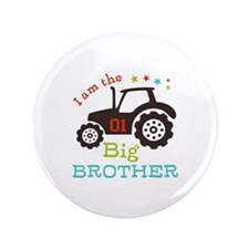 "Big Brother Farmer Tractor 3.5"" Button (100 pack)"