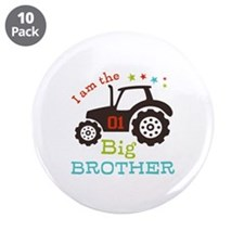 """Big Brother Farmer Tractor 3.5"""" Button (10 pack)"""