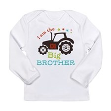 Big Brother Farmer Tractor Long Sleeve T-Shirt