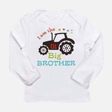 Big Brother Farmer Tractor Long Sleeve T-Shirt