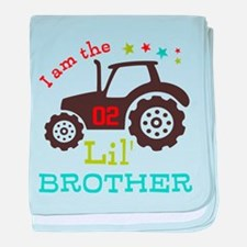 Little Brother Tractor baby blanket