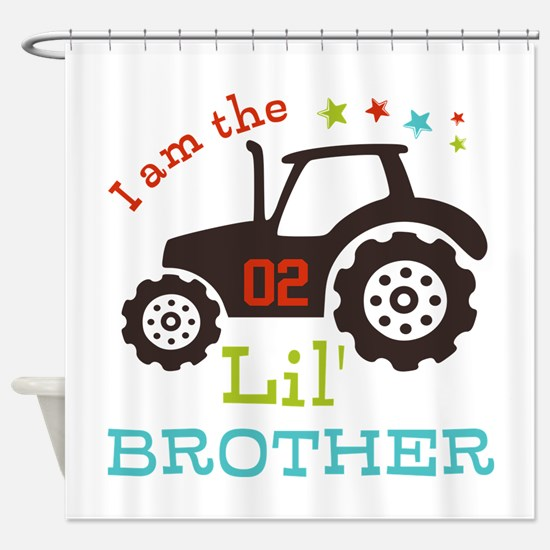 Little Brother Tractor Shower Curtain