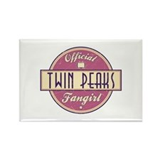 Official Twin Peaks Fangirl Rectangle Magnet
