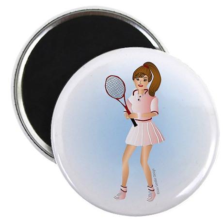 Tennis Woman Brunette Magnet
