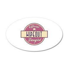 Official Wipeout Fangirl 22x14 Oval Wall Peel
