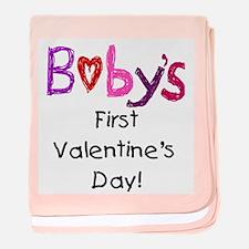 Baby's First Valentine's Day baby blanket