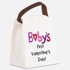 Baby's First Valentine's Day Canvas Lunch Bag