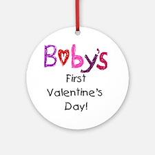 Baby's First Valentine's Day Ornament (Round)