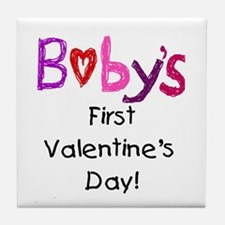 Baby's First Valentine's Day Tile Coaster