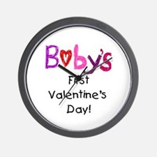 Baby's First Valentine's Day Wall Clock