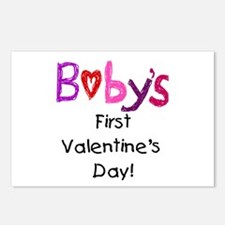 Baby's First Valentine's Day Postcards (Package of