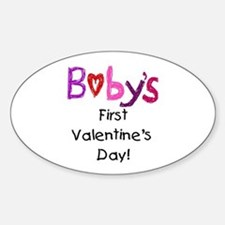 Baby's First Valentine's Day Sticker (Oval)