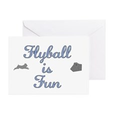Flyball Fun Greeting Cards (Pk of 10)
