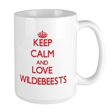 Keep calm and love Wildebeests Mugs