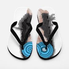 Steve Aoki Graphic Flip Flops