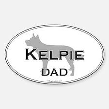 Kelpie Dad Oval Decal