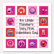 Little Monster 1st Valentine's Day Square Car Magn