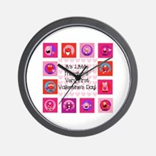 Little Monster 1st Valentine's Day Wall Clock