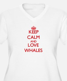 Keep calm and love Whales Plus Size T-Shirt