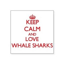 Keep calm and love Whale Sharks Sticker