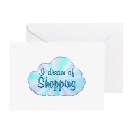 Shopping Dreamer Greeting Card
